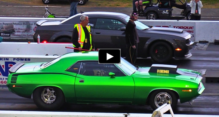 demon vs cuda 604 street legit race