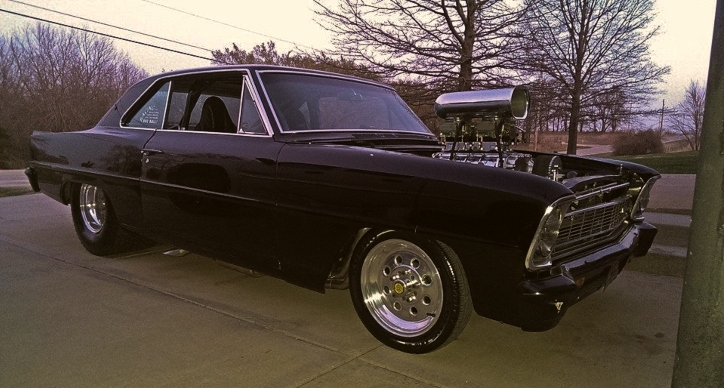 blown chevy II nova small block