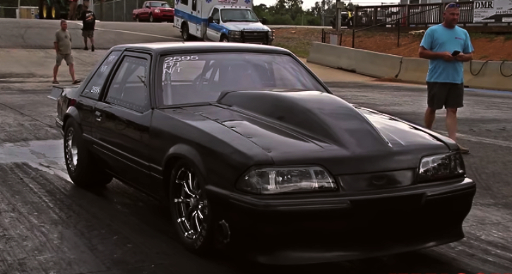 nitrous small block mustang drag racing