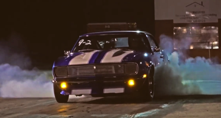 1968 chevrolet camaro drag racing