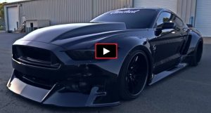 blacked out widebody s550 mustang