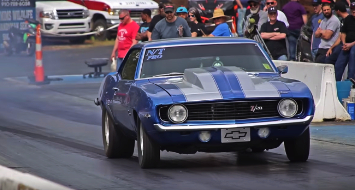 firsst gen nitrous camaro drag racing