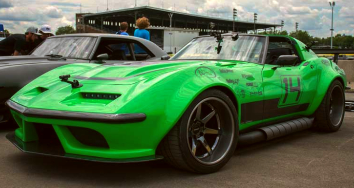 green mamba corvette autocross car