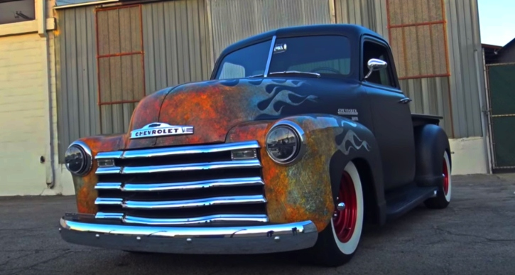 1955 chevy 3100 pick up truck hot rod