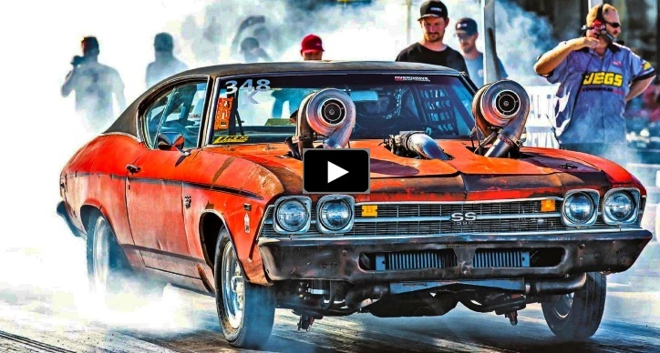 aussie twin turbo chevelle drag week 2019