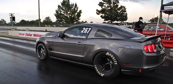 all motor ford mustang drag racing
