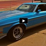 grabber blue boss 351 mustang unrestored