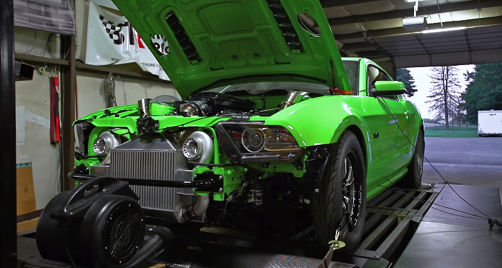 twin turbo coyot mustang dyno pull