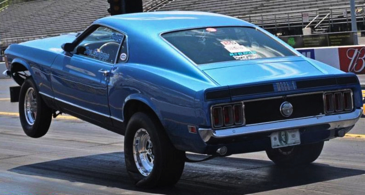 joe grippo mustang mach 1 drag racing