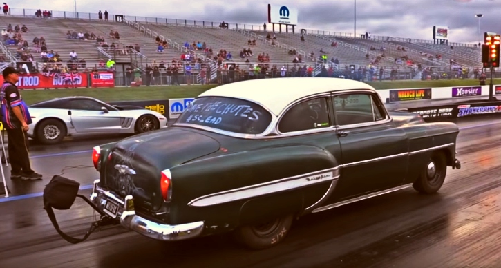 1953 chevy bel air runs 8 seconds
