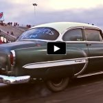 1953 chevy bel air drag racing