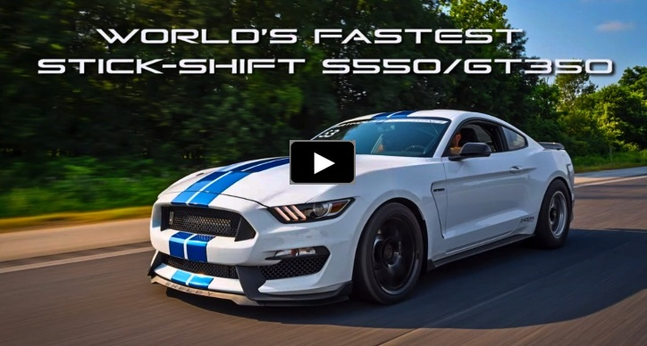 stick shift mustang gt350 quarter mile record