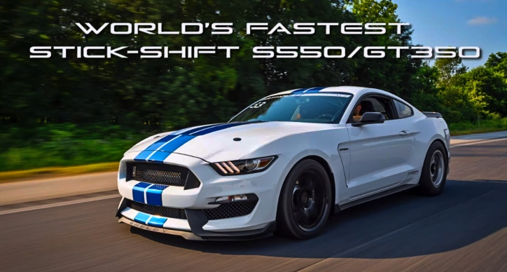 world's fastest stick shift ford mustang gt350