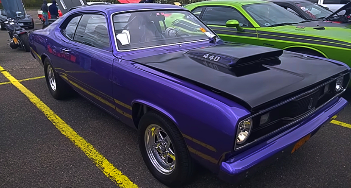 in violet 1971 plymouth duster