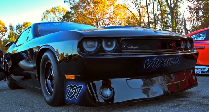 twin turbo hemi dodge challenger vixen