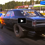 single digit 1966 chevelle drag racing
