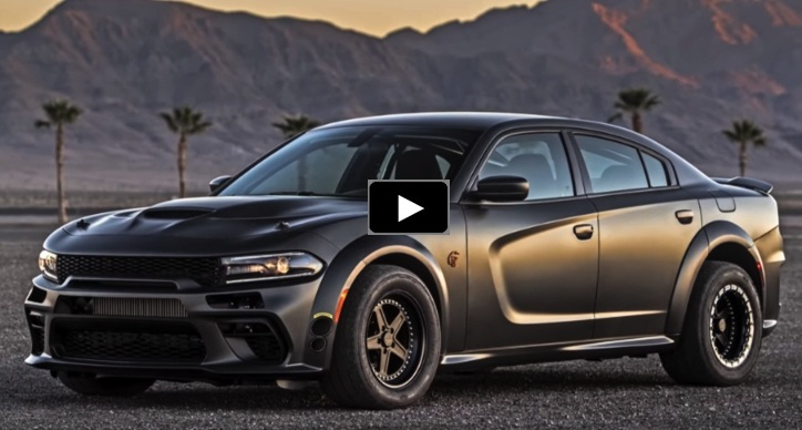 carbon fiber dodge charger srt hellcat sema