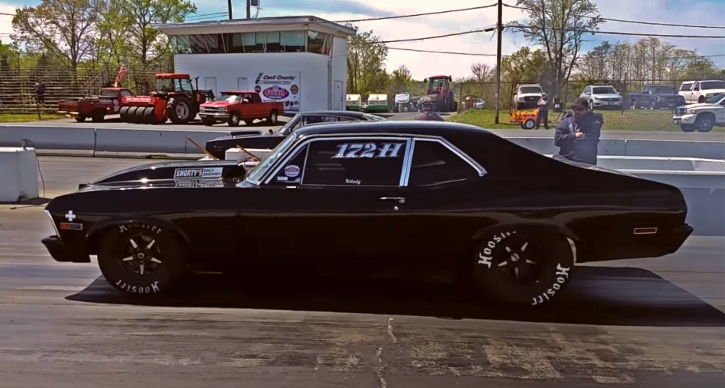 all motor chevy nova drag racing