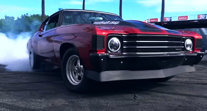 1972 chevy chevelle burnout