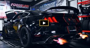 twin turbo shelby gt350 mustang dyno pull