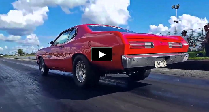 5.9 magnum 1972 plymouth duster drag racing