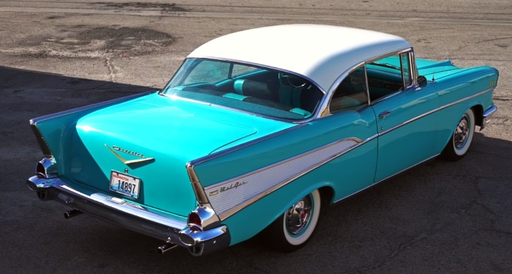 tropical turquoise 1957 chevy bel air