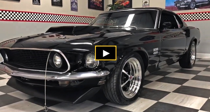 black 1969 ford mustang boss 429 tribute
