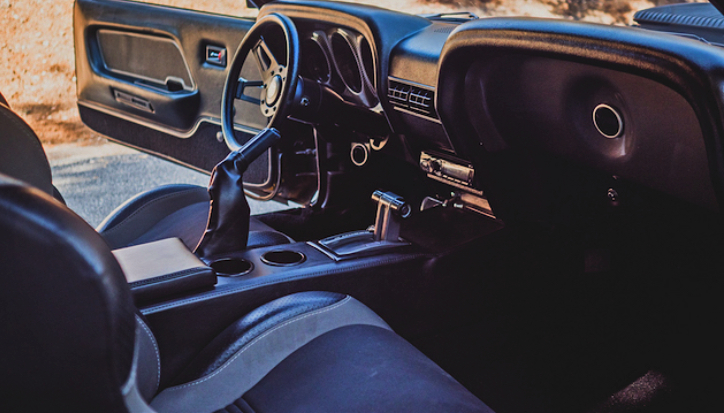 black phantom mustang interior