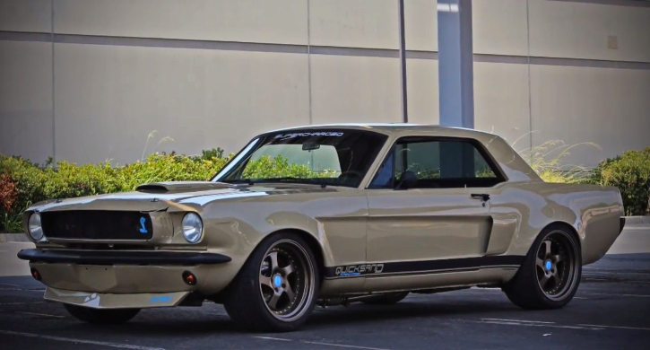 wide body 1965 mustang coupe