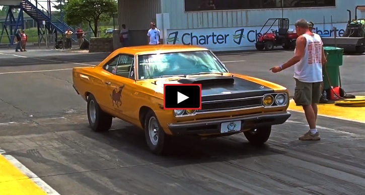 1968 plymouth satellite drag racing