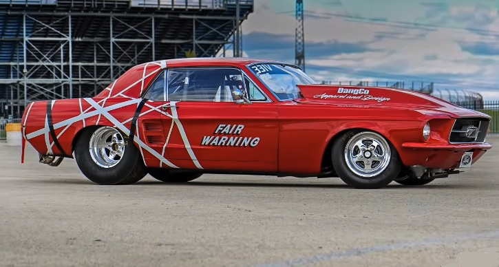 small block ford 1967 mustang drag racing