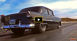 tri five chevy racing video