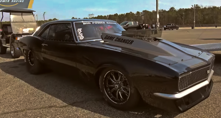 big power racing nitrous camaro atco dragway