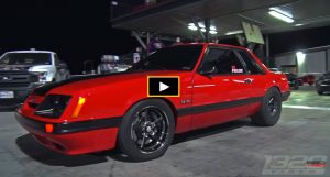 coyote powered fox body mustang drag racing