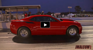 modern copo camaro race track video