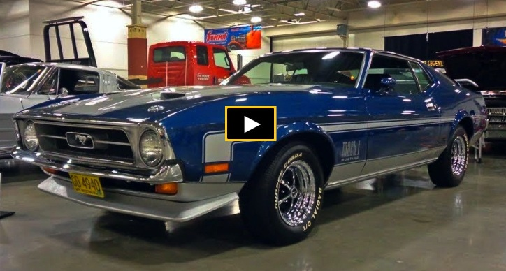 blue 1971 ford mustang 351 cleveland