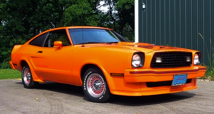 tangerine orange 1978 ford mustang II king cobra