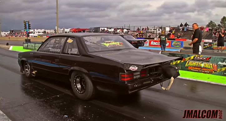 nitrous chevy malibu x275 drag racing