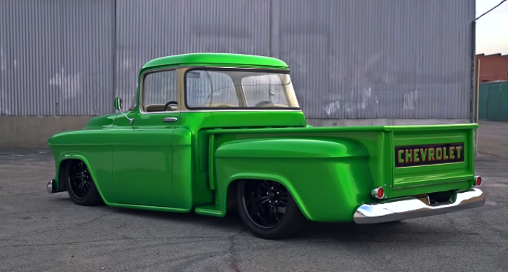 56 chevy truck garage build