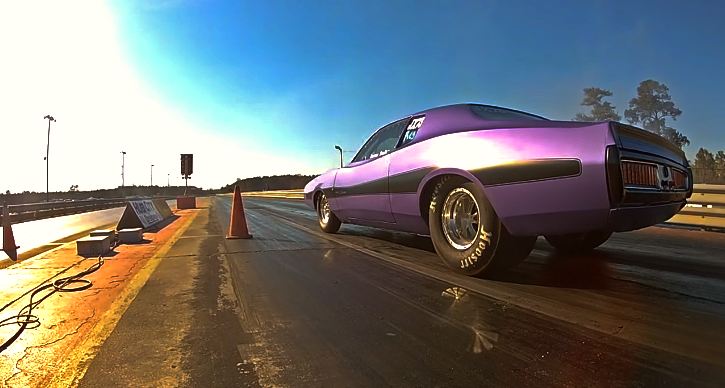 purple 1973 dodge charger se
