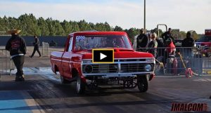 red ford grudge race truck