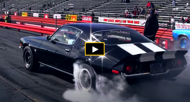 solid lifter chevy camaros 1/4 mile race