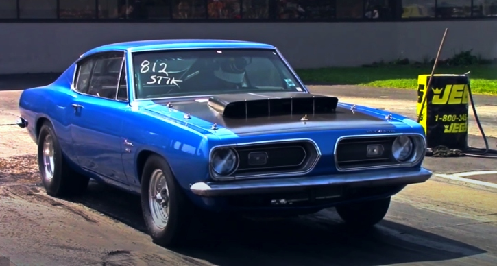 10 second plymouth barracuda drag racing