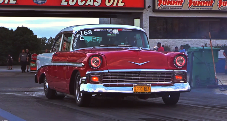 twin turbo 540 big block 56 chevy