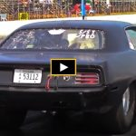 big tire plymouth cuda drag racing
