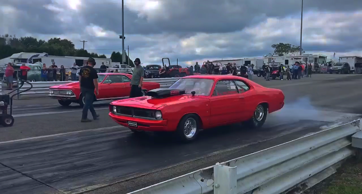wedge powered dodge demon drag racing