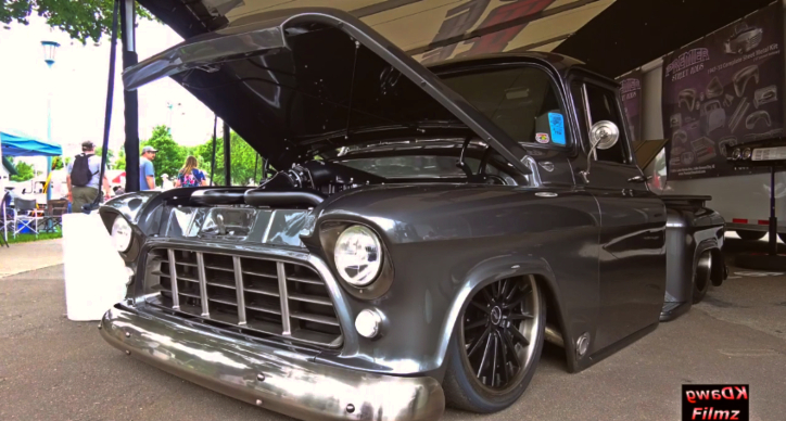 sinister chevy pick up build