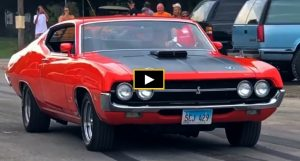 429 super cobra jet ford torino burnout