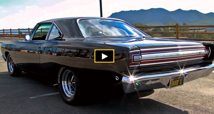 black 1968 plymouth road runner 440