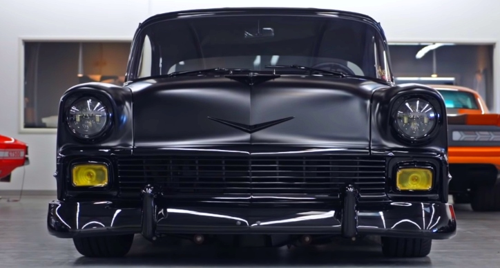 custom built 4-door 1956 chevy